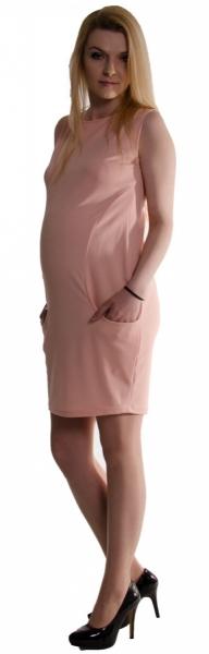 556527c9bfd Těhotenské letní šaty s kapsami - pudrově růžové - S (36)