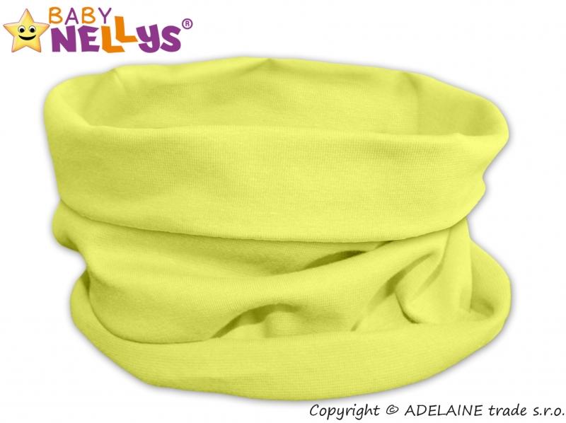 Nákrčník komínek Baby Nellys ® - lemon - 48 50 čepičky obvod ... 36a82d5eaa